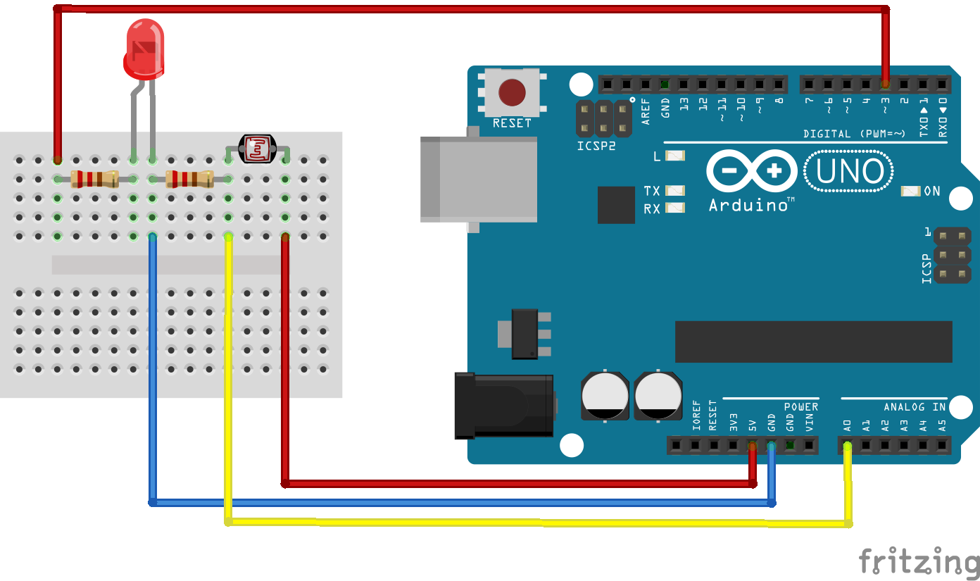 Arduino basics LDR+LED