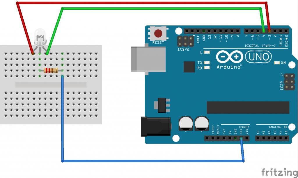 Arduino led Rood en Groen
