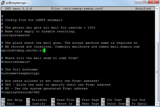 SSMTP mailserver 01