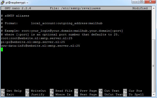 SSMTP mailserver 02