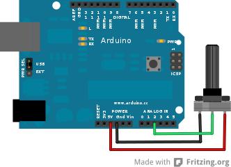 arduino potmeter schema