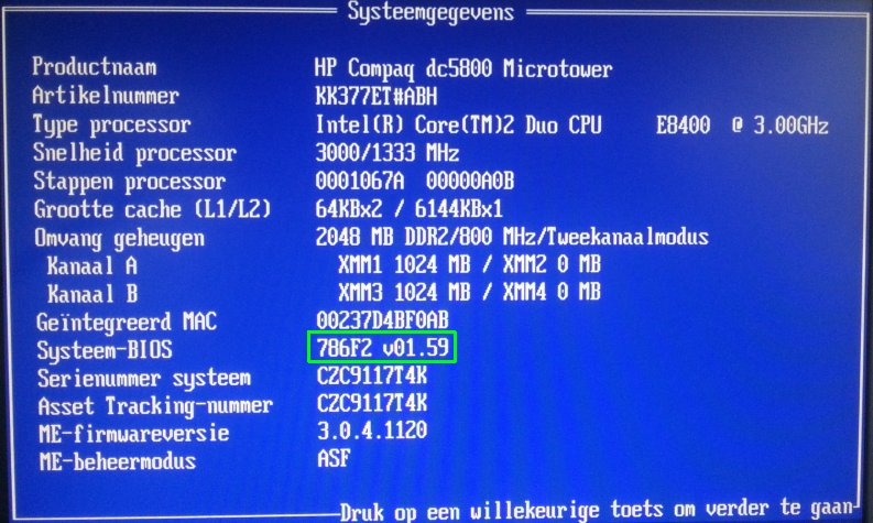 hp dc5800 bios upgrade 06