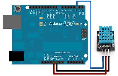 DHT11 Arduino schema
