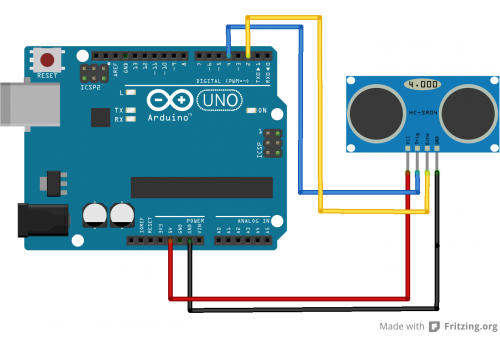 HC-SR04 Arduino Connect