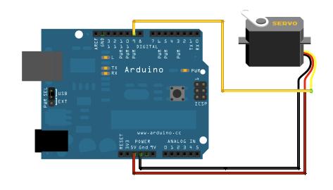 Servo SG90 Arduino schema