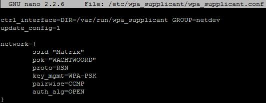 raspberry pi wifi voorbeeld