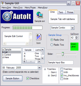 Autoit3 sample GUI