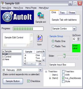 Autoit3 sample GUI