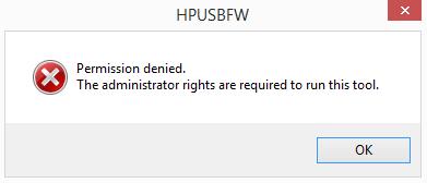 HP USB Disk Storage Format Tool error