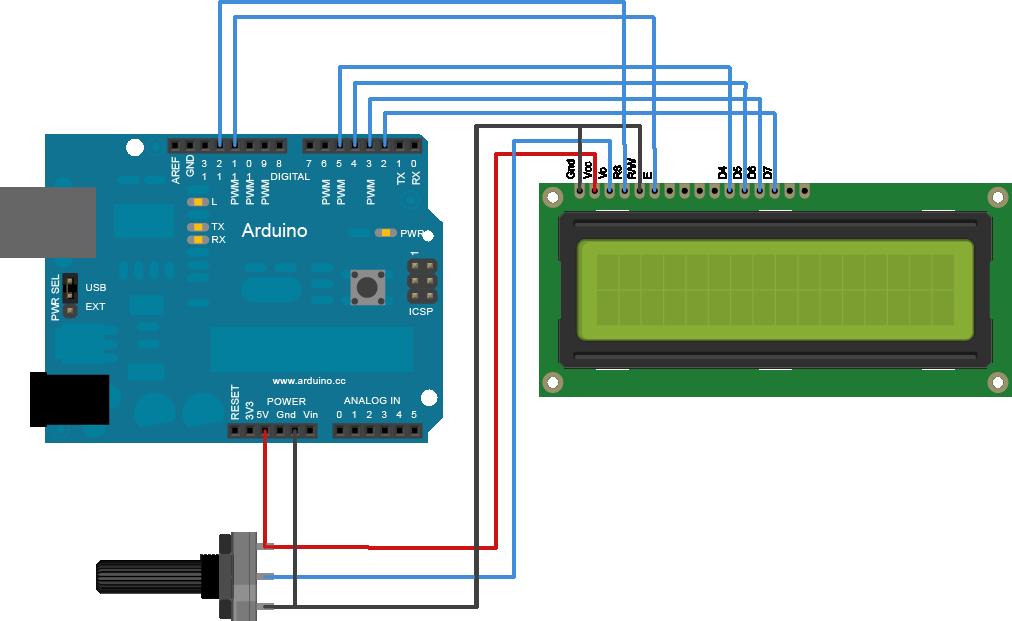 LCD op arduino