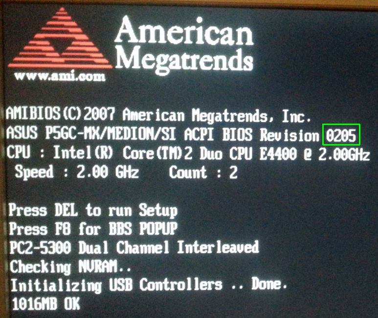 Medion MD8827 - bios upgrade 02