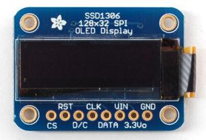 OLED 128x32 SPI display (SSD1306)