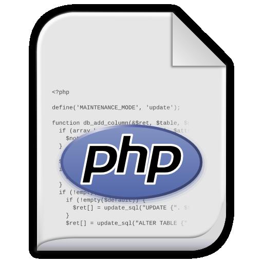 php tekst icon