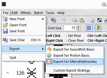 6x8 font symbolen export
