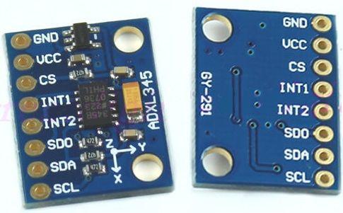 ADXL345 module met achterkant