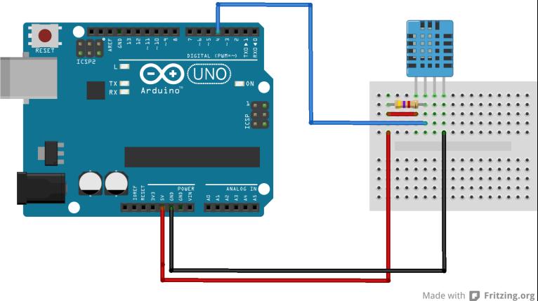 Arduino DHT11 los schema