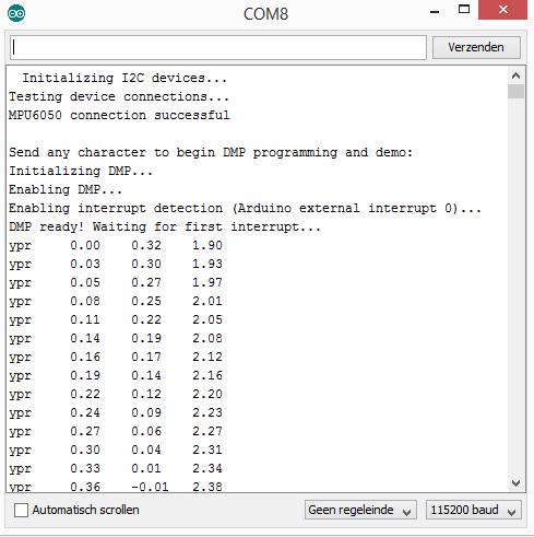Arduino GY-521 dmp6 output
