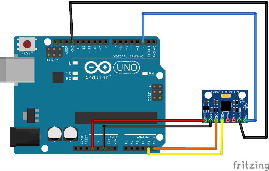 Arduino GY-521 schema