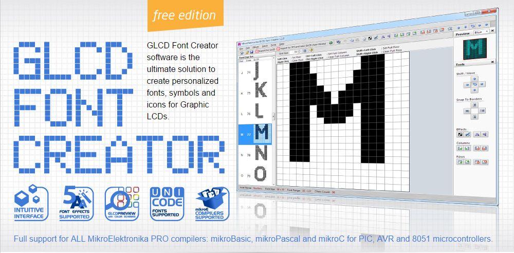 GLCD font creator