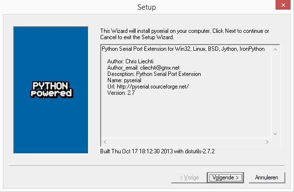 Python Pyserial installatie windows 01