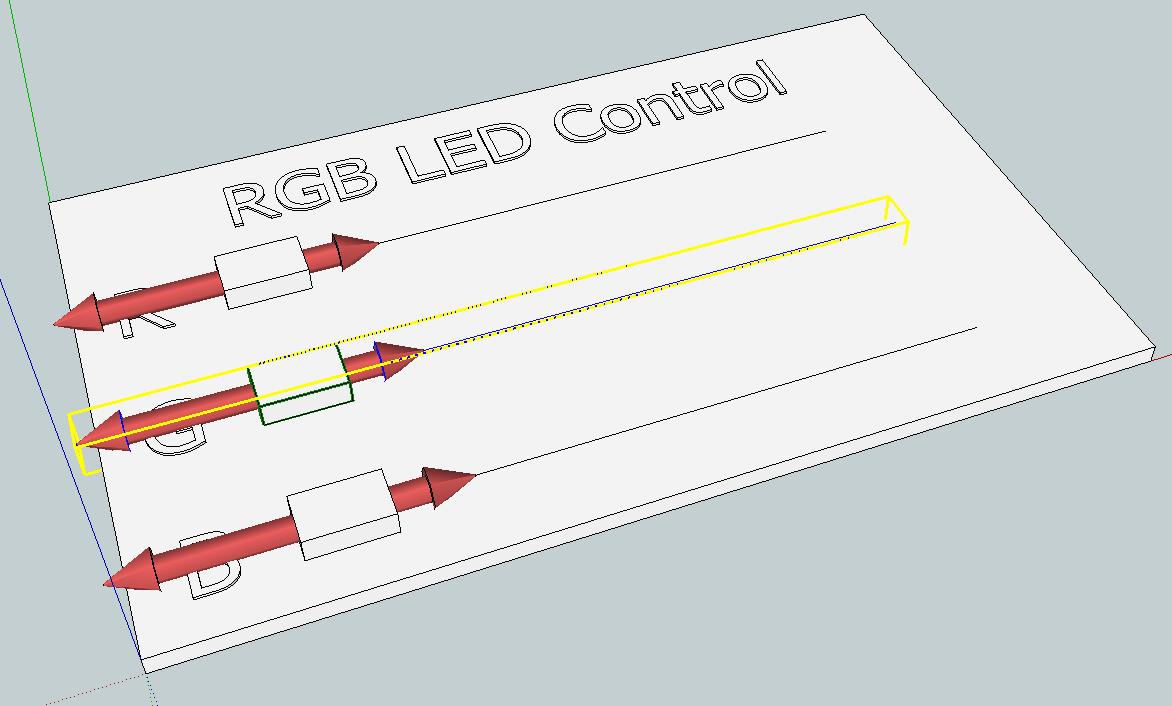 SketchUp SketchPhysics - RGB control 01