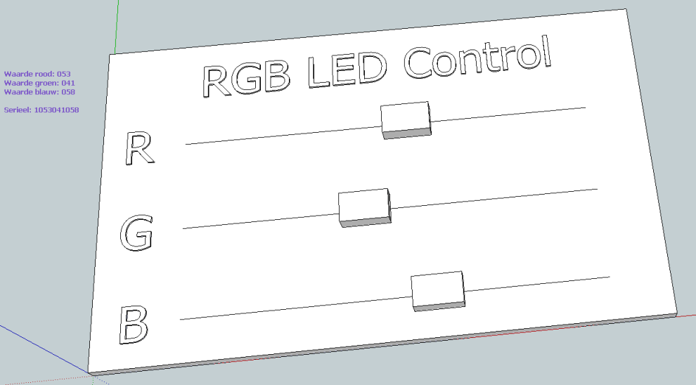 SketchUp SketchPhysics - RGB control 02