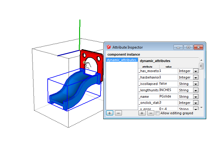 Sketchup Attribute Inspector screen 01