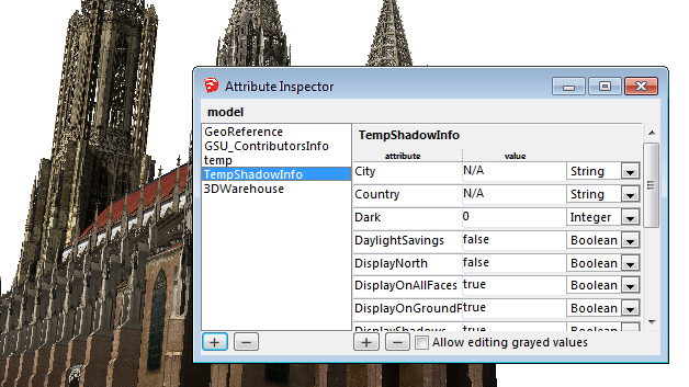 Sketchup Attribute Inspector screen 02