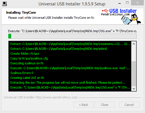 Universal USB installer - tinycore 02