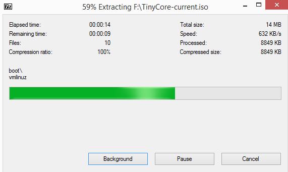 Universal USB installer - tinycore 03
