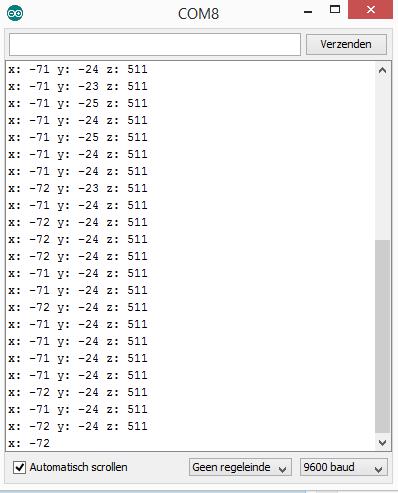 arduino adxl345 output