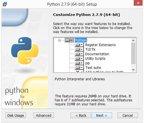python 2.7.x installatie windows 03