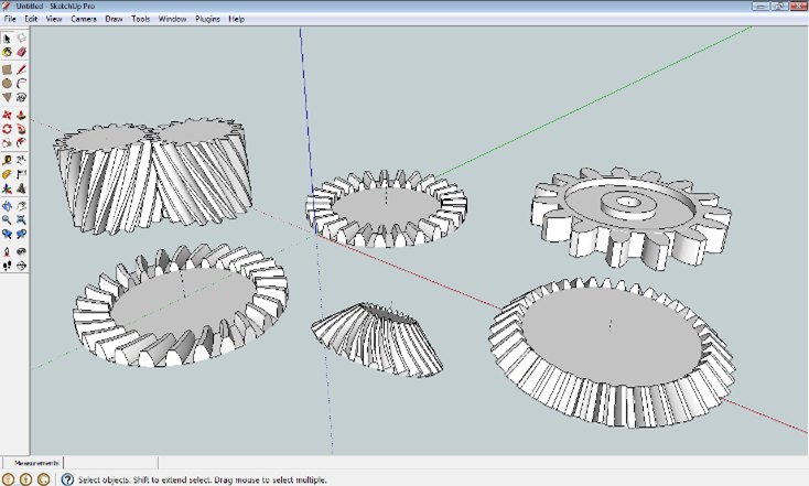 sketchup SPGears screen