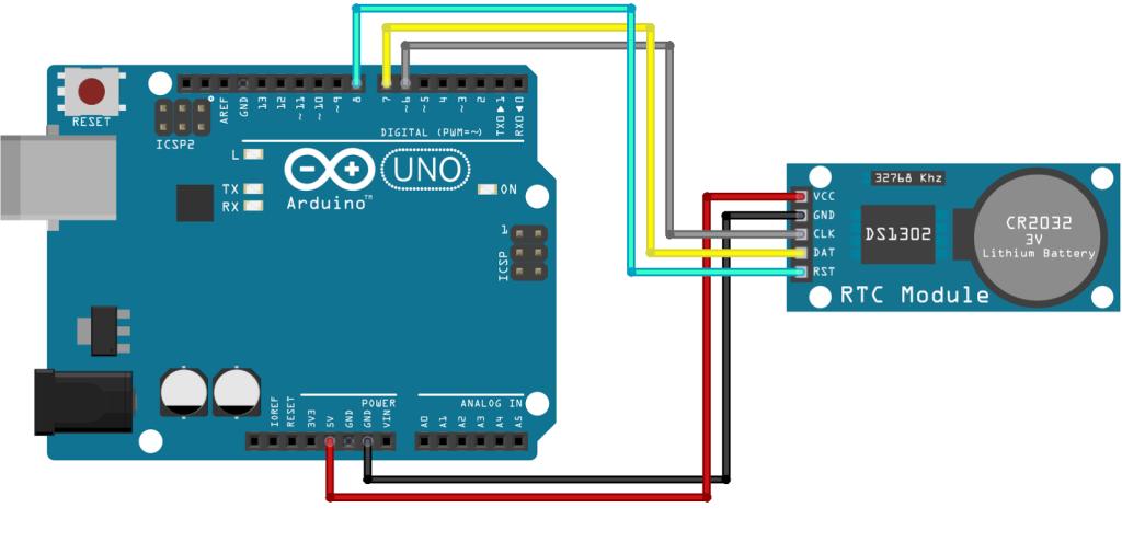 Arduino DS1302 schema