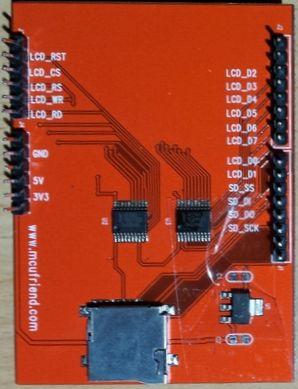 MCUFriend 2.4 inch LCD Shield - ST77xx driver (0x7777) - onderkant