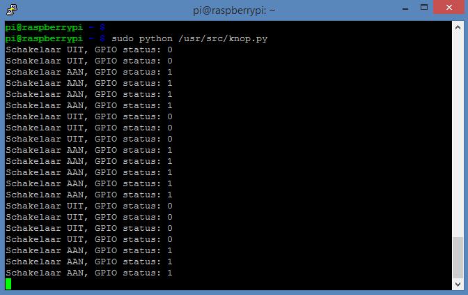 Raspberry Pi - GPIO knop output