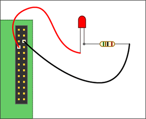 Raspberry Pi - GPIO led schema