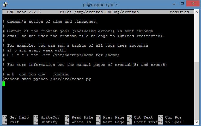Raspberry Pi - script in crontab