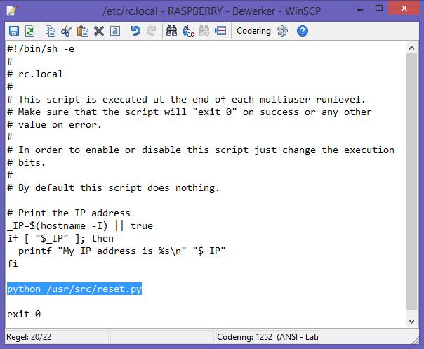 Raspberry Pi - script in rc.local