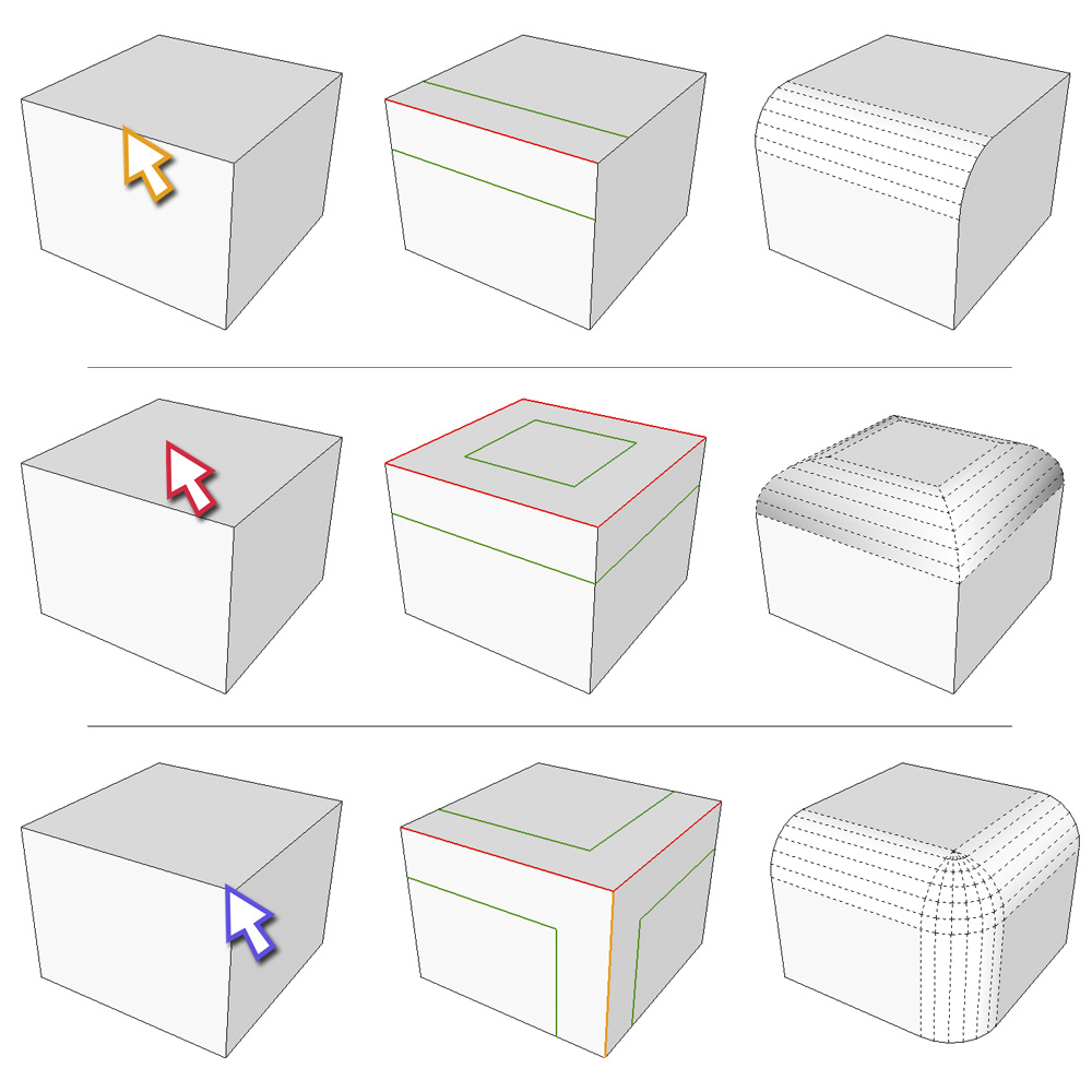 Sketchup plugin - Fredo Roundcorner