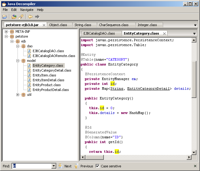 java decompiler screen