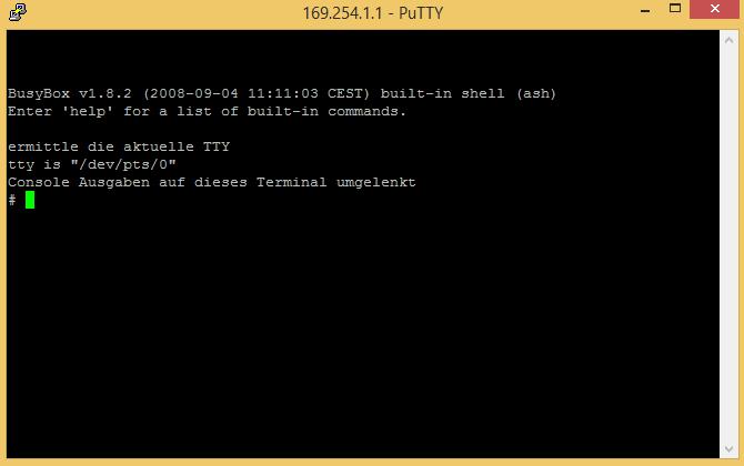 Fritz!Box Fon WLAN 7170 - Telnet Putty 02