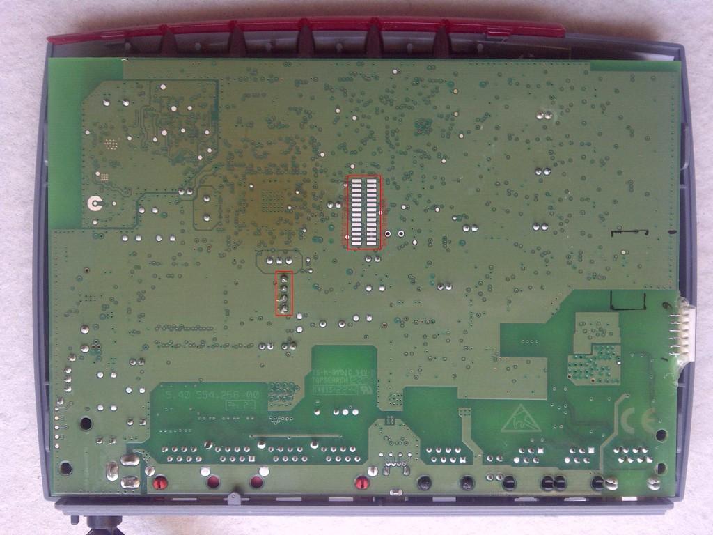 Fritz!Box Fon WLAN 7170 UART aansluiting #2