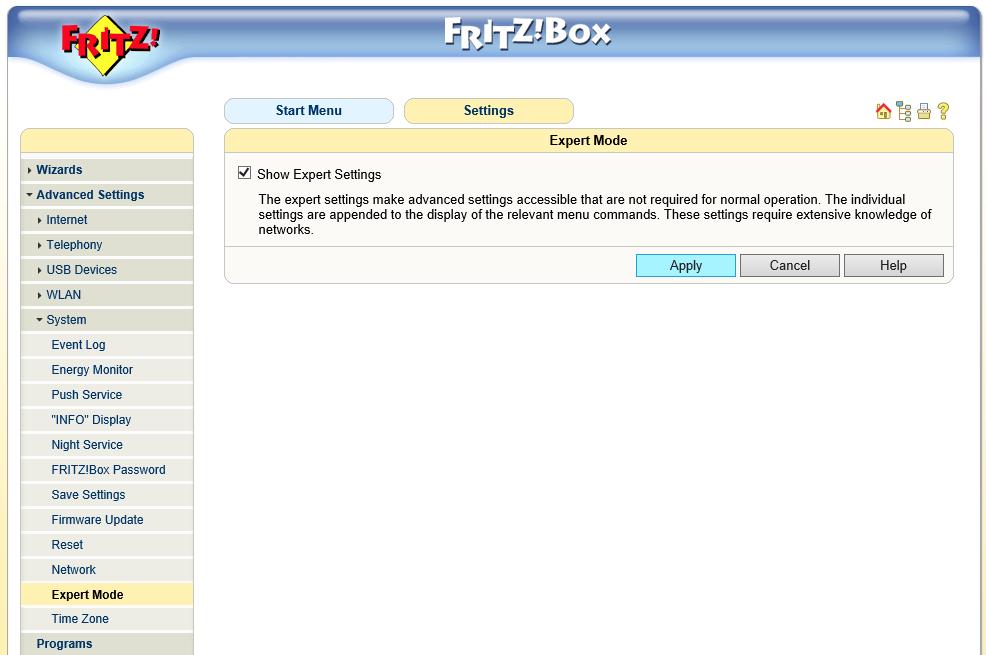 Fritz!Box Fon WLAN 7170 - geavanceerde instellingen