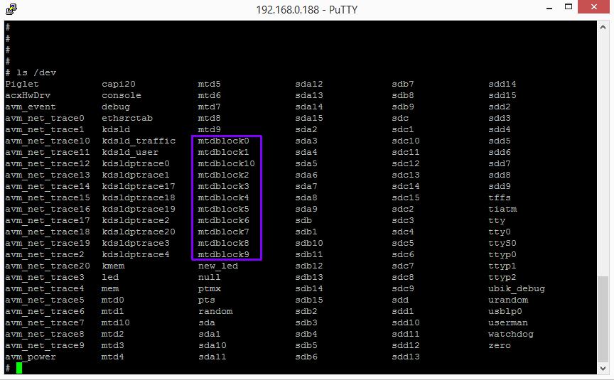 Fritz!Box Fon WLAN 7170 - telnet mtd