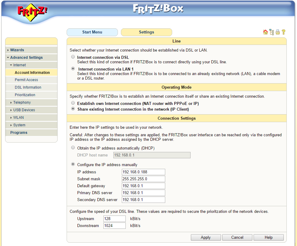 Fritz!Box Fon WLAN 7170 - verbinden met het internet 01