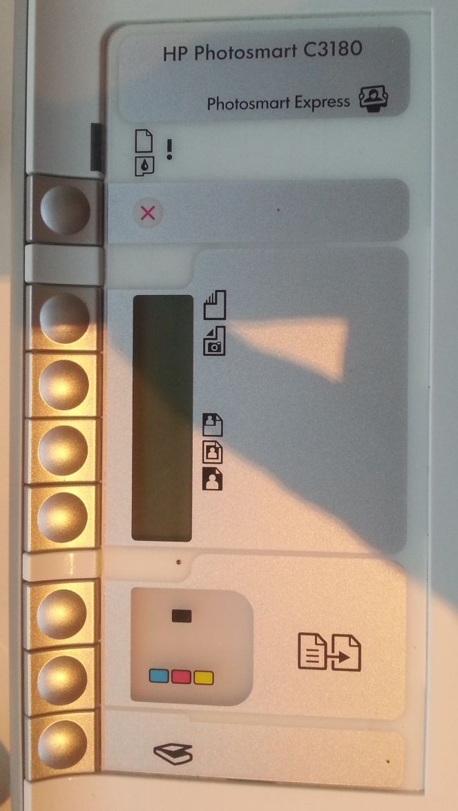 HP Photosmart C3180 - paneel