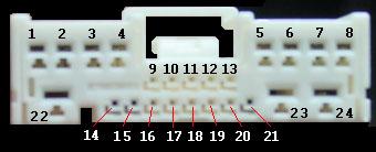 Mazda radio connector 24pins