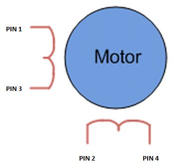 Stappenmotor - Epson EM-483 pinout schema