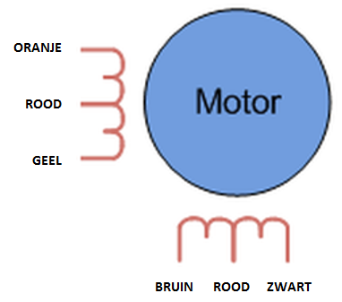 Stappenmotor - Fuji Electrochemical SMR40-4814-B pinout schema